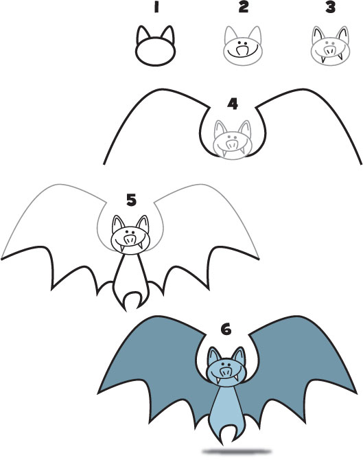 How to draw a bat kid scoop for How to draw a small bat