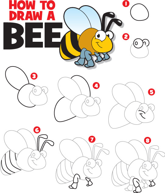 How to draw a bumble bee - photo#9