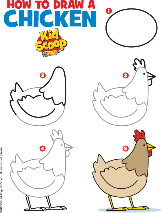 How to Draw a Chicken | Kid Scoop
