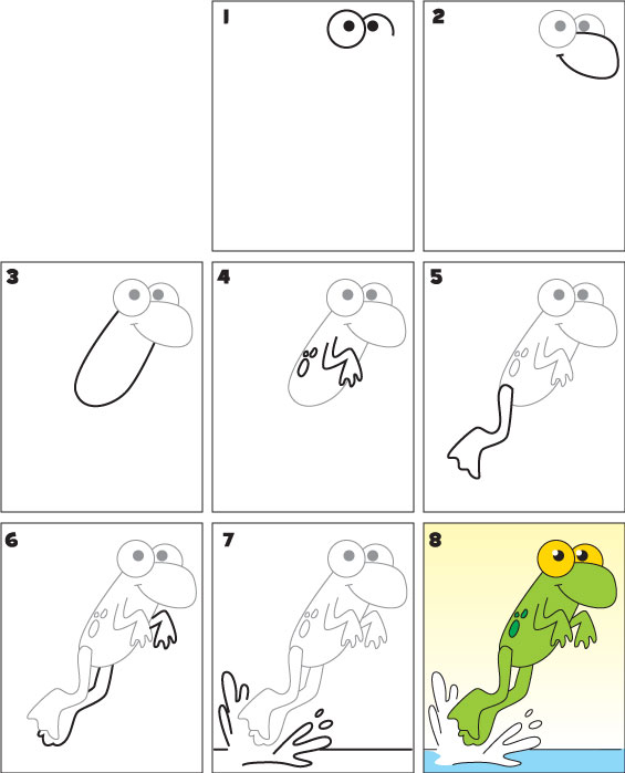 How To Draw a Frog   Kid Scoop