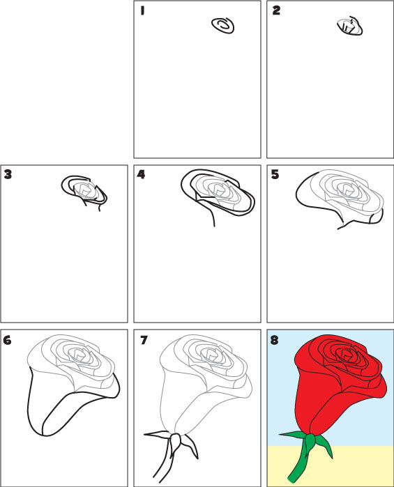 How to Draw a Rose as a Kid