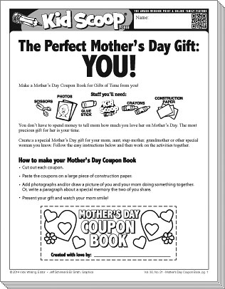 mother s day coupon book kid scoop. Black Bedroom Furniture Sets. Home Design Ideas