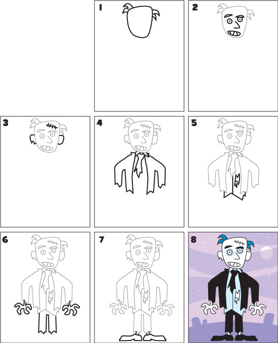 How To Draw A Zombie Kid Scoop